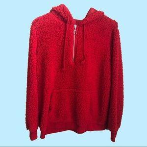 Red Teddy Hoodie